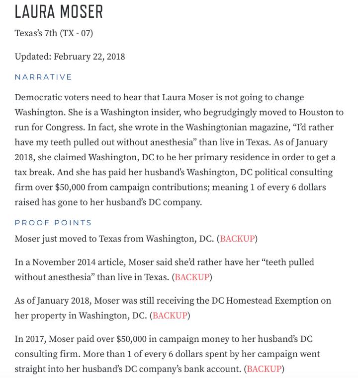 DCCC attack Laura Mosler