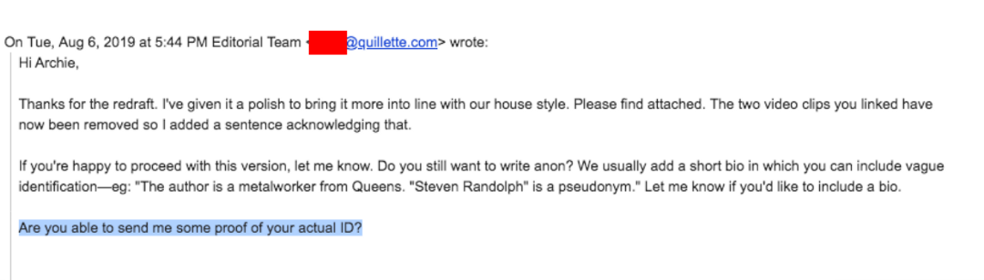 Quillette hoax email exchange