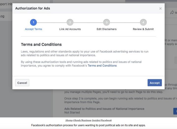 Facebook Political Ad Process