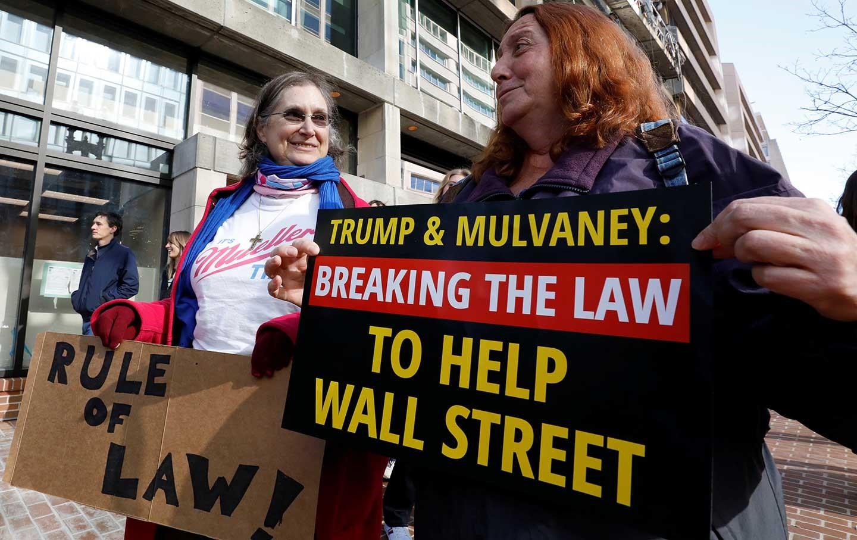 Mick Mulvaney deregulating financial markets