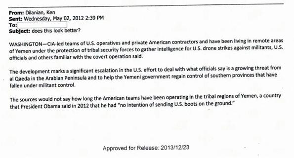 Ken Dilanian CIA emails