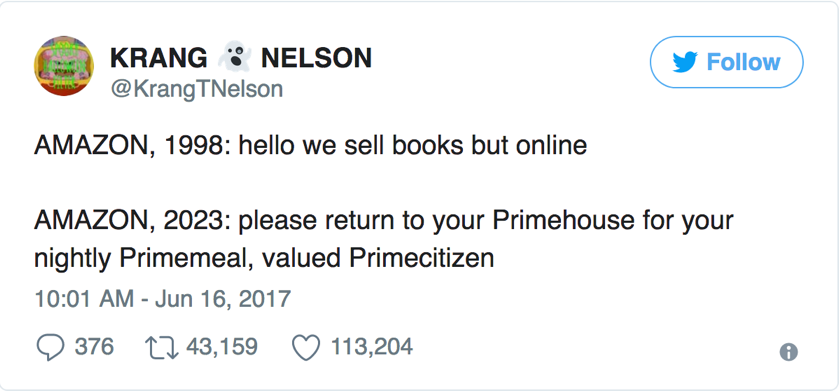 Amazon Key Tweet
