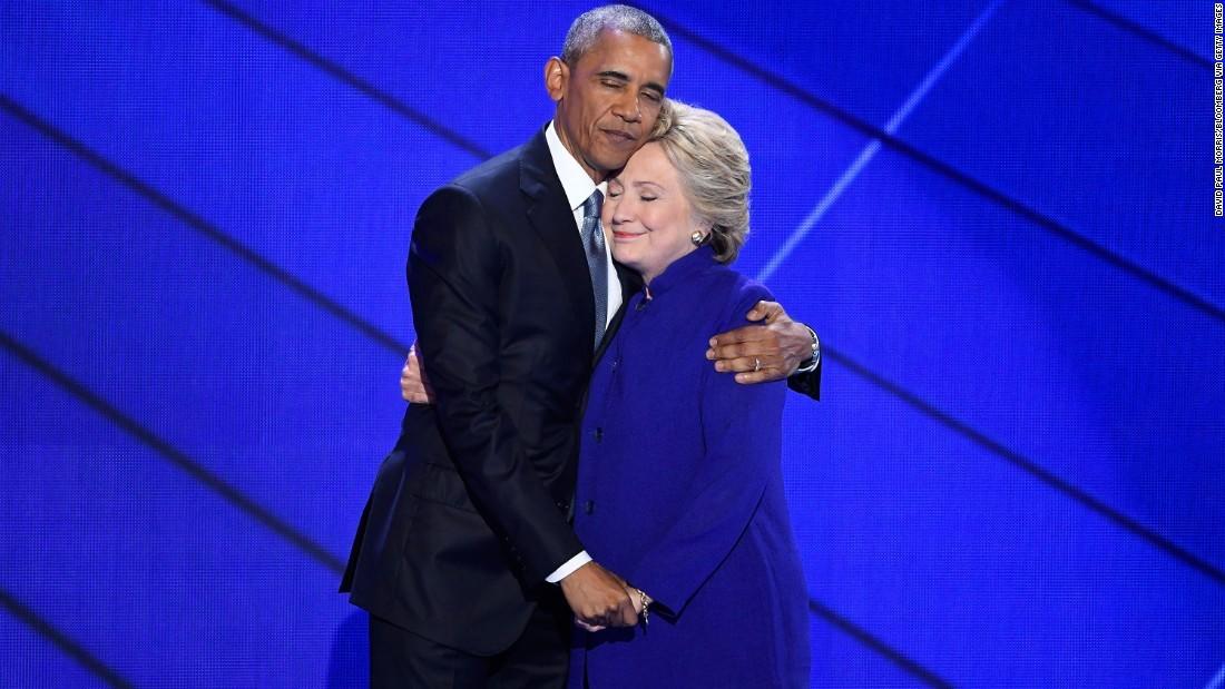 Clinton blames Barack Obama