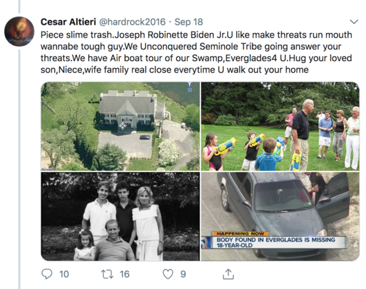 Joe Biden Bomb Threat