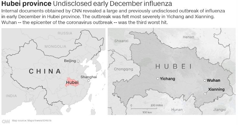 China Hubei Covid Map