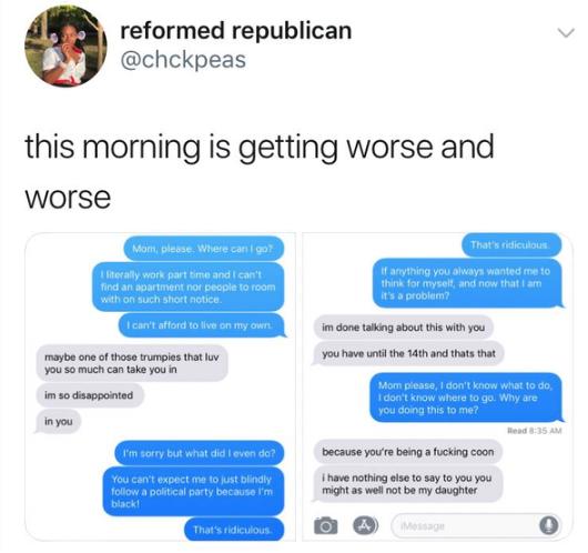 MAGA Girl fake texts