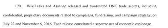 Wikileaks lawsuit DNC