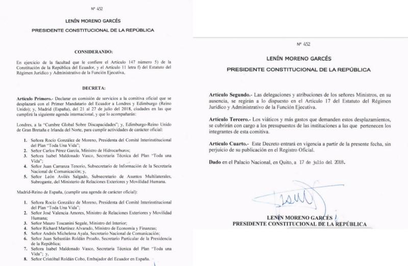 Ecuador Moreno Decree