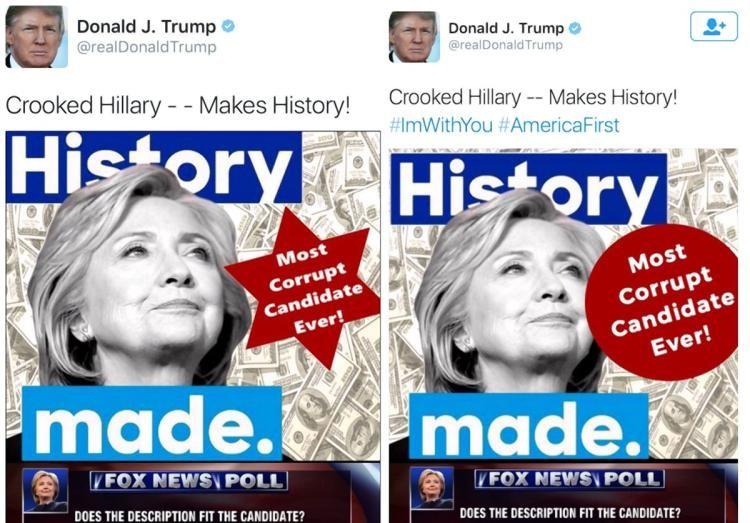 Clinton blames the media