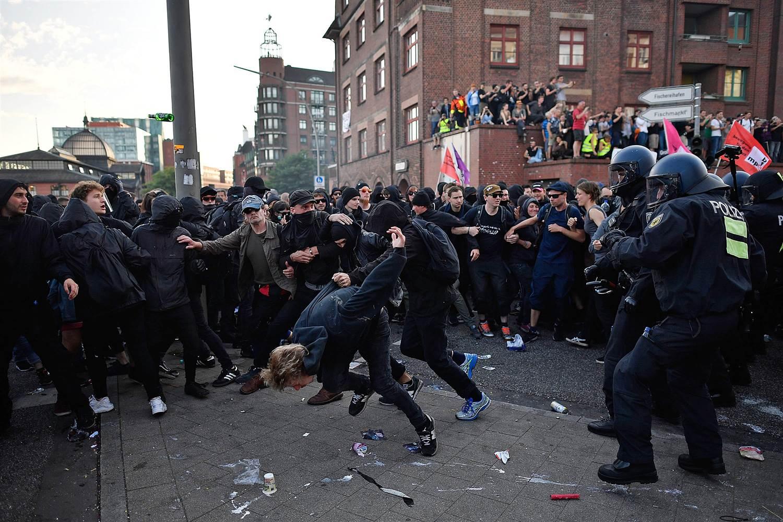 peaceful antifa protest