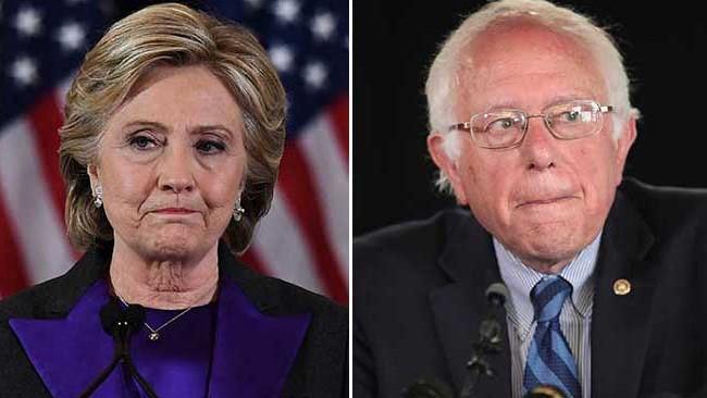 Clinton blames Bernie Sanders