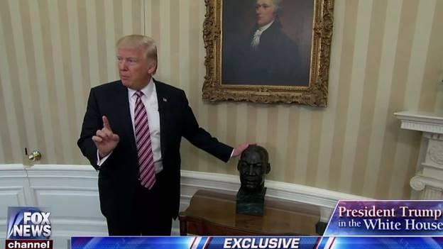 MLK Bust in Oval Office