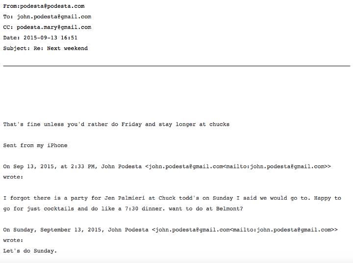 Podesta Sussman Email