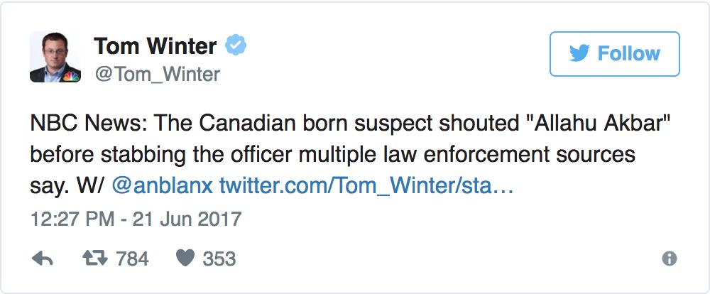 Michigan Terrorist stabbing