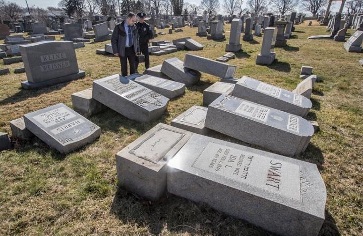 Vandalized Jewish cenetery