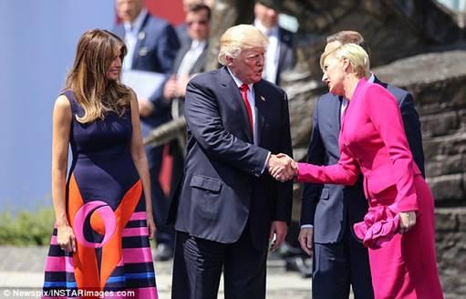 Trump Agata Kornhauser handshake