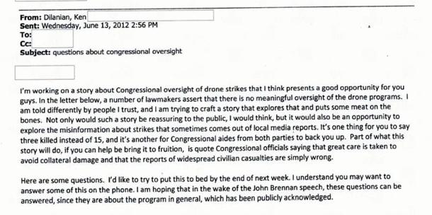 Ken Dilanian emails