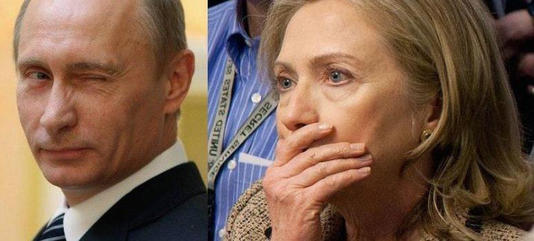 Clinton blames Vladimir Putin